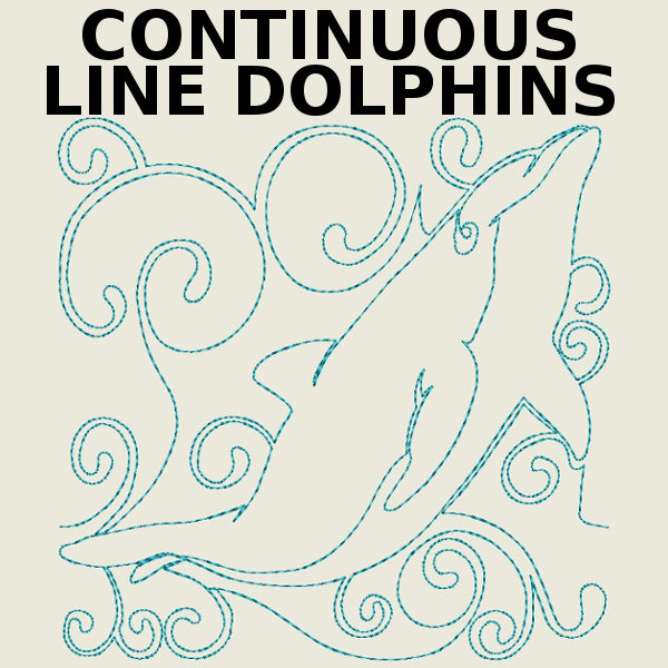 Continuous Line Dolphins