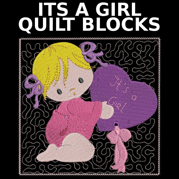 Its A Girl Quilt Blocks