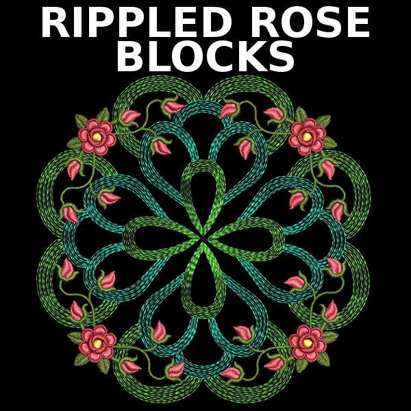 Rippled Rose Blocks